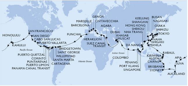 TORNEREMO A GIRARE IL MONDO – MSC POESIA 2023